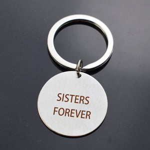 Engraved Key chain Best Friends Silver Fashion Lettering Jewelry Pendant Gift for Women