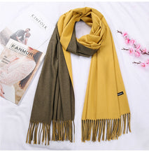 Load image into Gallery viewer, New Double Sided Winter Women Cashmere Solid Scarf Pashmina Shawls And Wraps Female Foulard Hijab Wool Stoles Head Scarves