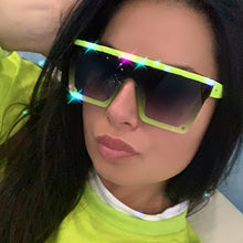 Load image into Gallery viewer, Oversized Square Sunglasses Women Luxury Transparent Colorful Sunglasses Women Designer Men Vintage Flat Top Eyewear UV400