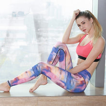 Load image into Gallery viewer, Women Fitness Yoga Pants Slim High waist Sport Leggings Gym Elastic Romantic Printed Long Tights for Running Tummy Control