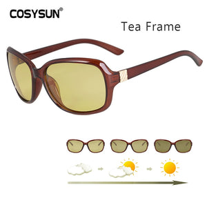Luxury lady Photochromic Sunglasses Women Day Night vision Polarized women Glasses female shades original