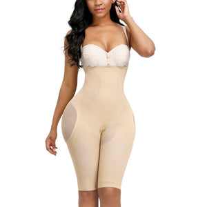 Women's Seamless Plus Size High Waist Control Panties Shapewear Thigh Slimmer Body Shaper Abdomen Butt Lifter Underwear