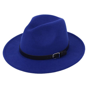 Classic British Fedora Hat Men Women Imitation Woolen Winter Felt Hats Fashion Jazz Hat Chapeau