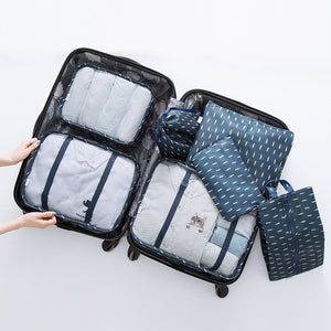 Travel Bags Sets Waterproof Packing Cube Portable Clothing Sorting Organizer Luggage Tote System Durable Tidy Pouch Stuff