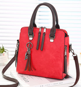 Luxury Vintage Ladies Hand Bags Totes Tassel Crossbody Bags for Women Famous Leather Shoulder Messenger Bag