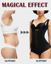 Load image into Gallery viewer, Plus Size Women Shaperwear Waist Trainer Push Up Vest Tummy Belly Girdle Body Shaper Hook Waist Cincher Corset Underwear