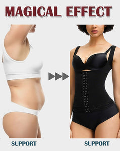 Plus Size Women Shaperwear Waist Trainer Push Up Vest Tummy Belly Girdle Body Shaper Hook Waist Cincher Corset Underwear