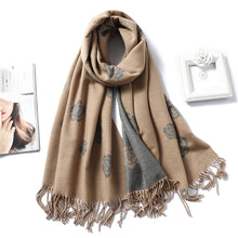Load image into Gallery viewer, Winter Cashmere Scarf Women Thick Warm Shawls Wraps Lady Solid Scarves Fashion Tassels Pashmina Blanket quality foulard New