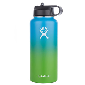 12/18/32/40oz Straw Lid Stainless Steel Water Bottle Hydro Flask Water Bottle Vacuum Insulated Wide Mouth Travel Portable Thermal Bottle