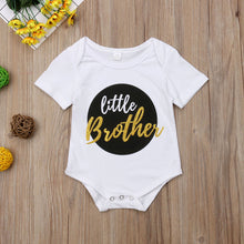 Load image into Gallery viewer, Big Sister Little Brother Matching Outfits Baby Boy Bodysuits Girl T shirt Kids Top Tee Clothes Set