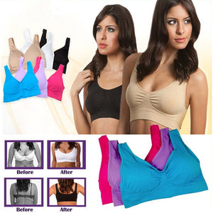 Seamless Push Up Bra Plus Set of 3 Underwear Wireless Bra black/white/nude 3pcs/set Sexy Bra With Pads