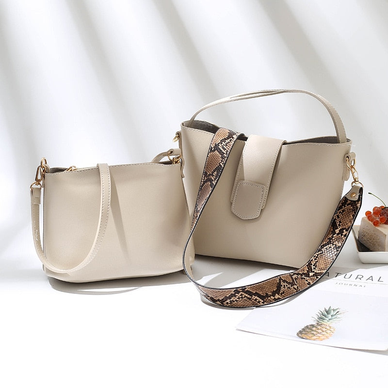 New Designer Women Handbags Leather Shoulder Bags Larger Capacity Cross body