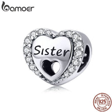 Load image into Gallery viewer, 925 Sterling Silver My Sweet Sister Heart Charm Fit  Bracelet Necklace Metal Bead Accessories Jewelry Making