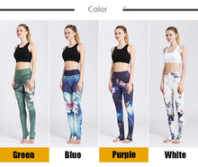 Load image into Gallery viewer, Gym Women Fitness Yoga Pants Slim High waist Sport Leggings Elastic Romantic Printed Long Tights for Running Tummy Control