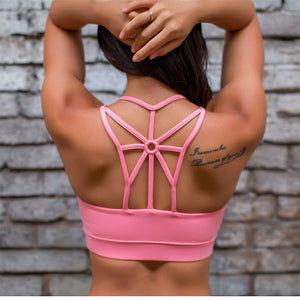 Hollow Female Fitness Women Yoga Gym Tops Sport Bh Woman High Impact Sports Bra Top Academia Active Wear For Women's Racerback