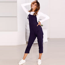 Load image into Gallery viewer, Bib Overalls For Women Rompers Backless Jumpsuit Strap Slim Trousers Playsuit Summer Casual Ankle-Length Pants Jumpsuit