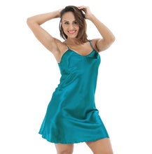 Load image into Gallery viewer, Oversize Female Satin Nightgown Lady Sexy Spaghetti Strap