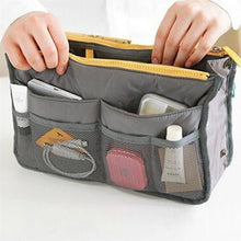 Load image into Gallery viewer, High Quality Thick Large Capacity Cosmetic Storage Bag Nylon Travel Insert Organizer Handbag Purse Makeup Bag For Women Female