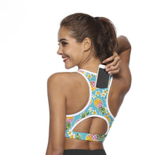 Load image into Gallery viewer, Yoga Bra with Phone Pocket Sport Top Women Fitness Shockproof Compression Vest