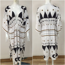 Load image into Gallery viewer, Swimsuit Cover Up Women Pareo Beach Dress Wears Print Loose Long Dress Beach Cardigan Bathing Suit Beach Cover Ups