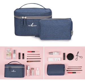 New Portable Travel Cosmetic Bag Women Waterproof  Makeup Bag Men Cosmetics Case Pouch Toilet Make up Zipper Bags