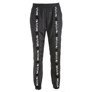 Harem Pants Trousers Women Full Length Loose Jogger Sporting Elastic Waist Black Casual Combat Streetwear Fashion