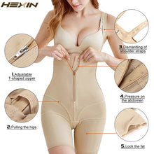 Load image into Gallery viewer, Full Body Shaper Belt Zipper Hooks Waist Trainer Butt Lifter Thigh Slimming Panties Tummy Control Push Up Shapewear