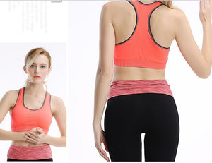 Professional women sports bras GYM lady running fitness exercise quick-drying underwear training dancing Shockproof  vest