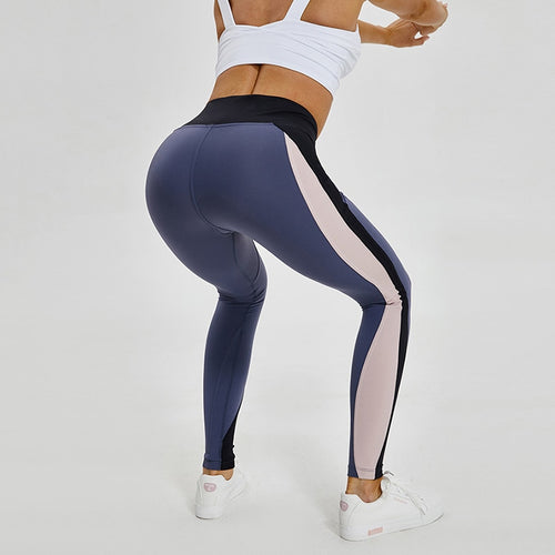 New High Waist Booty Color Block Compression Yoga Leggings For Women Tummy Control Gym Fitness Pants Squat Proof Sport Tights