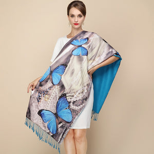Fashion Designer Ladies Big Scarf Women Brand Wraps Real Double-deck Thickened Brush Autumn Winter Shawl Scarves