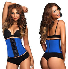 Load image into Gallery viewer, 100% Latex Waist Trainer Corset 9 Steel Bone Shapewear Body Shapers Women Corset Slimming Belt