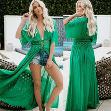 Load image into Gallery viewer, Sexy Beach Dress Swimwear Women Beach Cover Up Cardigan Swimwear Bikini Cover ups Robe Dress