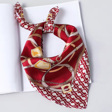 Load image into Gallery viewer, Small Pure Silk Scarf Elegent Women Small Square Silk Scarf Printed Female Neck Scarves Neckerchief