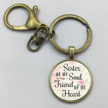 Load image into Gallery viewer, Keychain Pendant,Inspirational charm,Gift for Best Friend,Sister jewelry