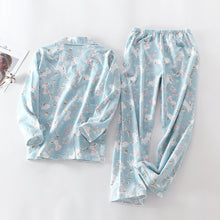 Load image into Gallery viewer, New Pajamas Women Kawaii Cartoon Pajamas 100% Brushed Cotton Female Cute Night Suit Long Sleeve Sleepwear Big yard S-L