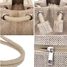 Load image into Gallery viewer, Fashion Women Linen Handbag Large Shopping Tote Holiday Big Basket Bags Summer Beach Bag Woven Beach Shoulder Bag