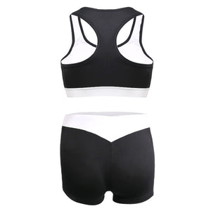 Summer Women Sport Suits Sexy Crop Tops+Shorts Tracksuit Two Piece Set Gym Running Joggings Yoga Exercise Clothes Quick Dry