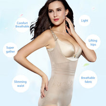 Load image into Gallery viewer, Women Post Natal Postpartum Slimming Underwear Shaper Recover Bodysuits Shapewear Waist Corset Girdle Black/Apricot