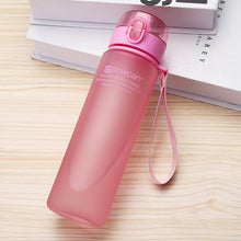 Load image into Gallery viewer, 501-600ml Eco-friendly with Lid Hiking Camping Plastic Drinking Bottle