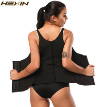 Load image into Gallery viewer, Neoprene Sauna Waist Trainer Cincher Vest  Shaper Summer Sweat Body Shaper Slimming Underbust Adjustable Straps Hooks