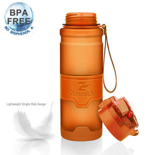 Load image into Gallery viewer, Water Bottle 1000ml sports Protein Shaker Portable Leakproof plastic Large Capacity BPA Free