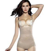 Load image into Gallery viewer, Women Post Natal Postpartum Slimming Underwear Shaper Recover Bodysuits Shapewear Black/Apricot