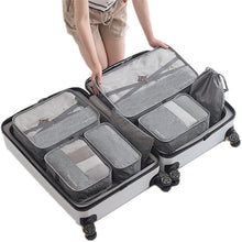 Load image into Gallery viewer, 7pcs/set Travel Bags Sets Waterproof Packing Cube Portable Clothing Sorting Organizer Women Luggage Accessories Product