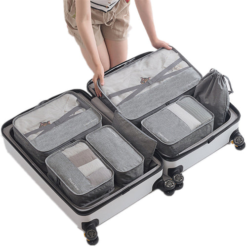 7pcs/set Travel Bags Sets Waterproof Packing Cube Portable Clothing Sorting Organizer Women Luggage Accessories Product