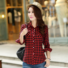 Load image into Gallery viewer, New Winter Warm Women Velvet Thicker Jacket Plaid Shirt Style Coat  Casual Jacket Outerwear