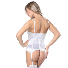 Load image into Gallery viewer, Sexy White Lace Corsets And Bustiers Women High Quality Lace Up Firm Female Corset Push Up Lingerie Bustier
