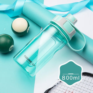 2000ml Large Capacity Water Bottles Portable Outdoor Plastic Sports Bottle With Tea Infuser Fitness Leak-proof Shaker Bottles