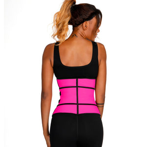 4 Rows Hooks  Latex Waist Cincher Corset Underbust Body Fajas Sweat Waist Trainer Fitness Corset for Weight Loss
