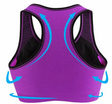 Load image into Gallery viewer, Professional women sports bras GYM lady running fitness exercise quick-drying underwear training dancing Shockproof  vest