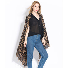 Load image into Gallery viewer, Fashion Women Wild Leopard print scarf shawls and wraps female Cotton Long  Cape Shawl Scarves
